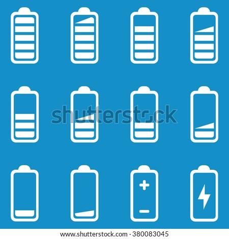 Battery icon set . Vector illustration - stock vector