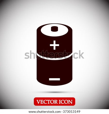 battery Icon vector - stock vector