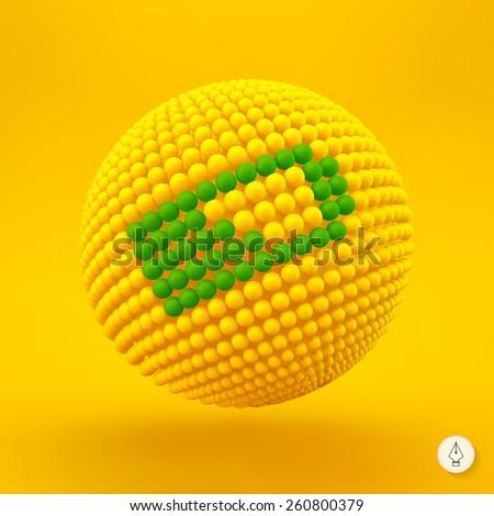 Battery icon. Web sign. Design element. Vector illustration. 3D Pixel Art. - stock vector