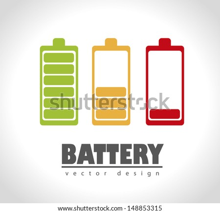 battery icons over gray background vector illustration  - stock vector