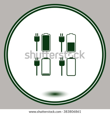 Battery icons set. Vector. Eps 10.
