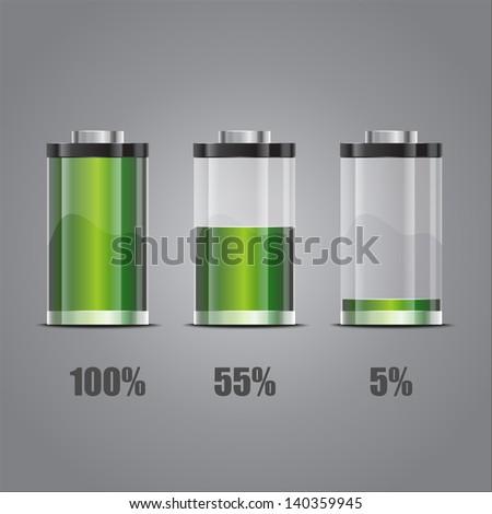 Battery illustration. Concept-battery life - EPS10 - stock vector