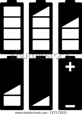 battery indicator vector - stock vector