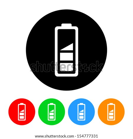 Battery Level Icon - stock vector