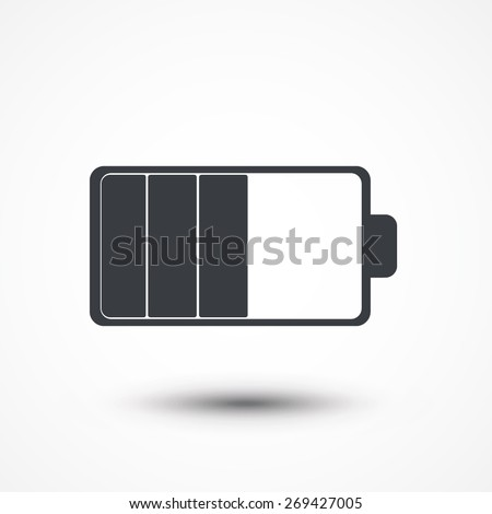 Battery load illustration isolated on white background - stock vector
