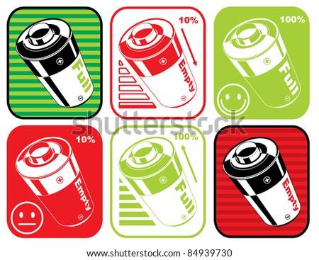 battery set-vector - stock vector