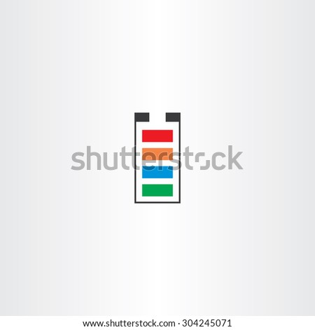 battery symbol vector icon design  - stock vector