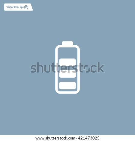 Battery - vector icon - stock vector