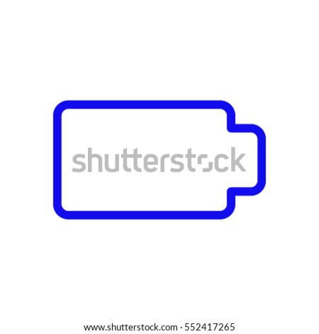 Battery web icon, battery icon vector