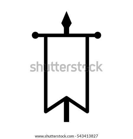 battle flag war banner line art stock vector 543413827 shutterstock. Black Bedroom Furniture Sets. Home Design Ideas
