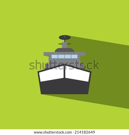 Battleship flat icon  vector illustration eps10   - stock vector