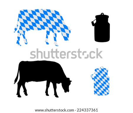 Bavarian milk cow - stock vector