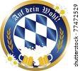 Bavarian Oktoberfest beer button - stock vector