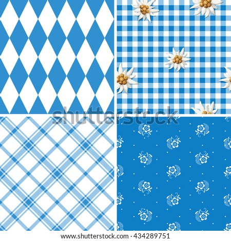 Bavarian pattern collection  - stock vector