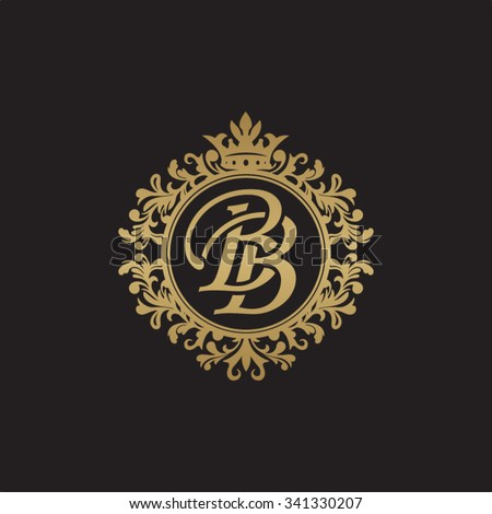 Bb Initial Luxury Ornament Monogram Logo Stock Vector 341330207 ...