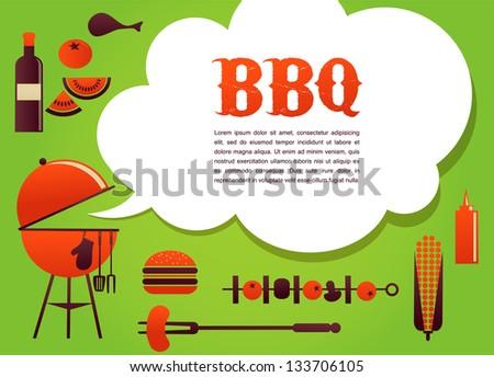 BBQ illustration - stock vector