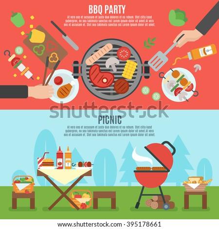 Cookout Stock Images RoyaltyFree Images Vectors Shutterstock - Backyard bbq party cartoon