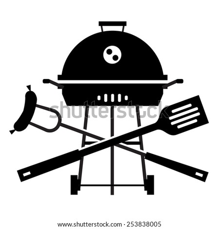 BBQ vector logo design template. Grill or cooking icon. - stock vector