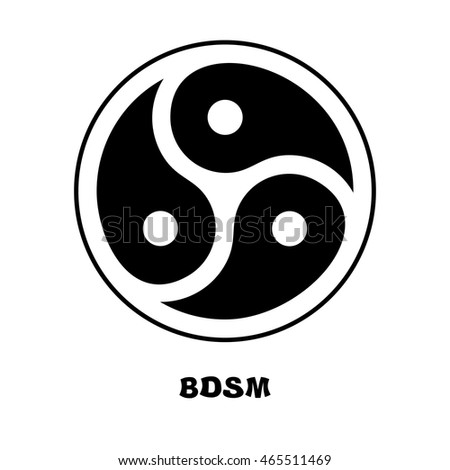 BDSM logo. Sign for sadist masochist love. Emblem for fans of hard sex