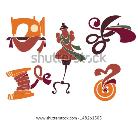 be a designer, hand made fashion, vector collection of symbols and icons - stock vector