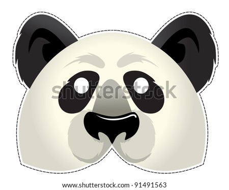 Be a Panda at a party - stock vector