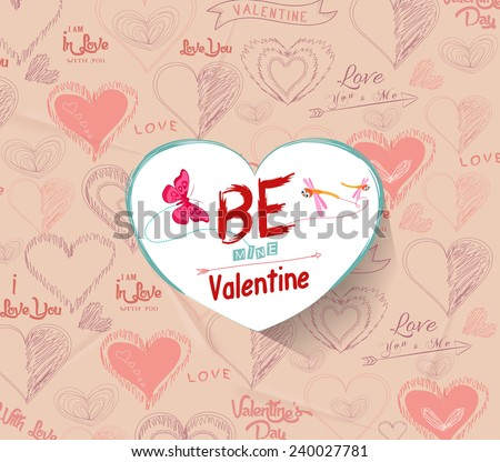 be mine valentine - stock vector