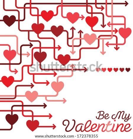 Be my Valentine heart maze in vector format. - stock vector