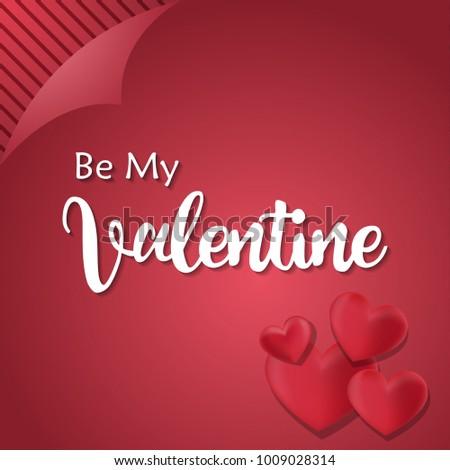 be my valentine love heart romantic stock vector royalty free