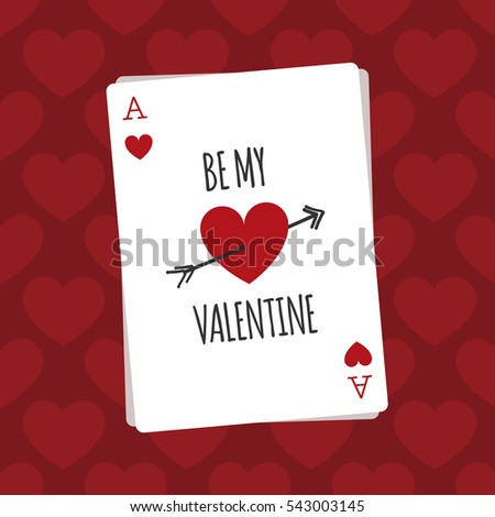 Saint Valentines Day Greeting Card Forever Vector 357906509 – Valentine Playing Cards