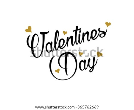 be my valentine, quote, valentines day, hand drawing, valentines day card, happy valentines day, design template, vector illustration - stock vector