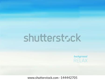 beach and tropical sea - stock vector