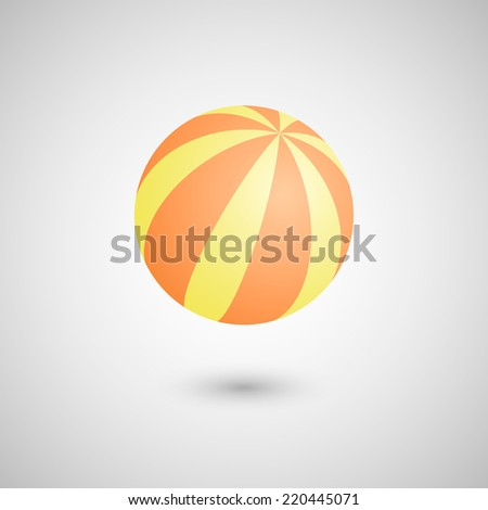 Beach ball icon. Isolated on white background. Vector illustration. - stock vector