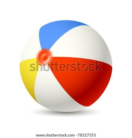 Beach Ball. Vector. - stock vector