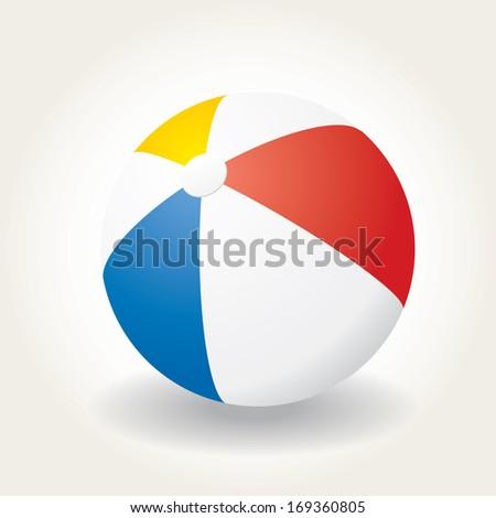 Beach ball vector illustration. - stock vector