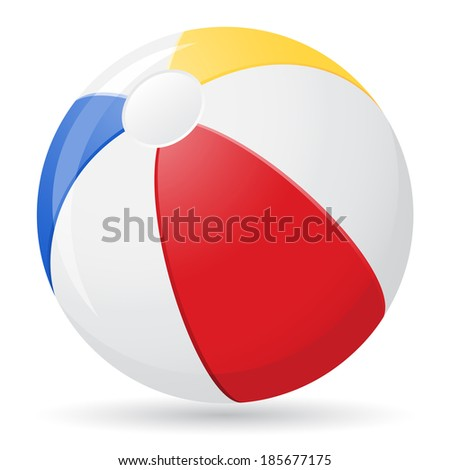 beach ball vector illustration isolated on white background