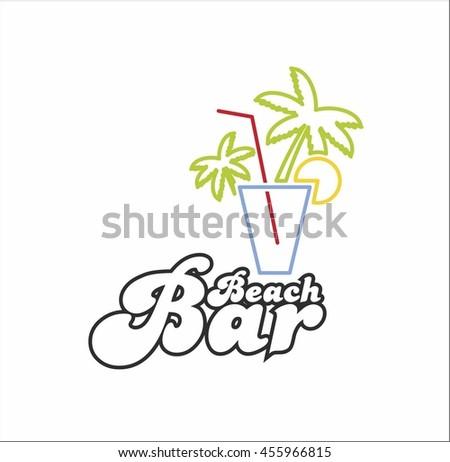 Beach bar - stock vector