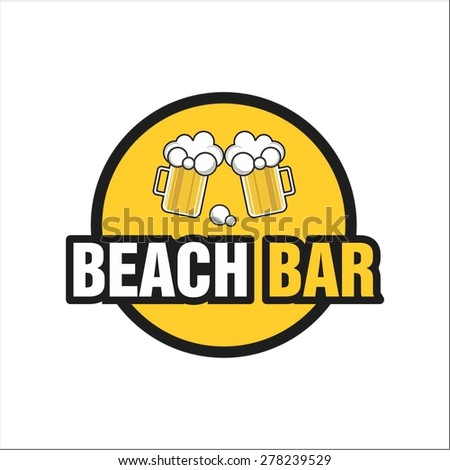 Beach beer bar - stock vector