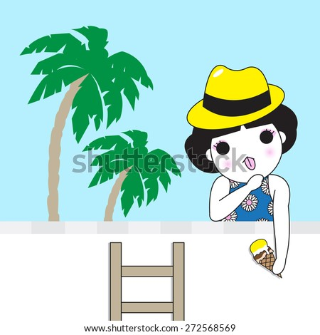 Beach Calling character illustration