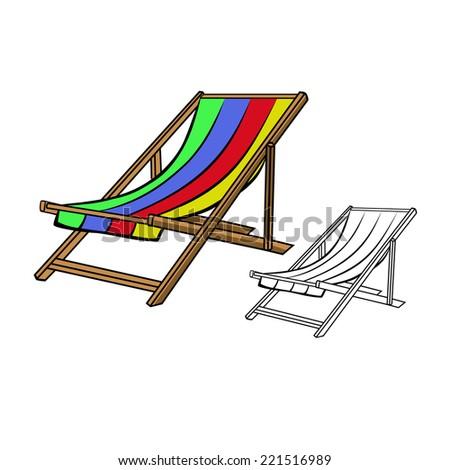 Beach Chair Isolated Stock Vectors & Vector Clip Art ...