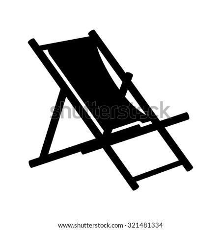 Beach chair icon beach chaise longue stock vector for Beach chaise longue