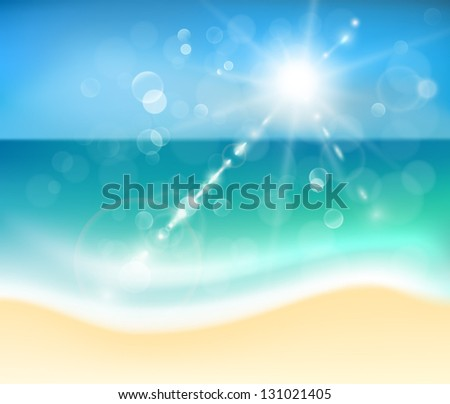 Beach horizon abstract background - eps10 - stock vector