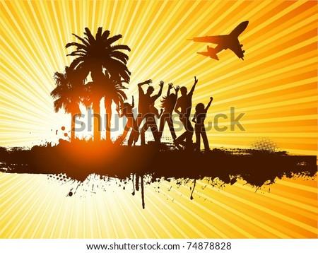 Beach party - stock vector