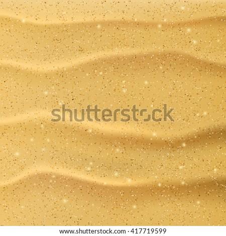 Beach sand background. Mesh vector illustration - stock vector