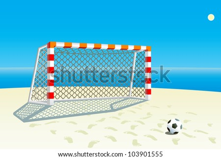 Beach  soccer background. - stock vector