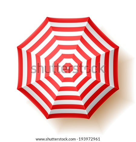 Beach umbrella, top view. Vector. - stock vector