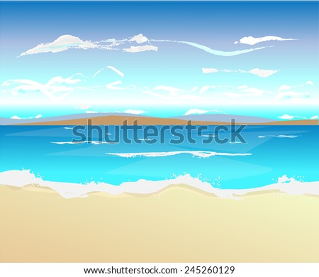 Beach vector artwork  - stock vector