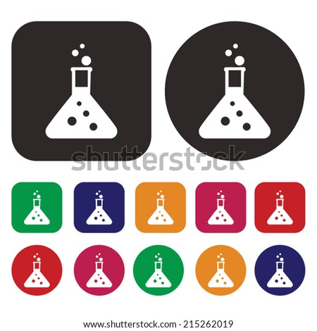 Beaker, laboratory equipment icon - stock vector
