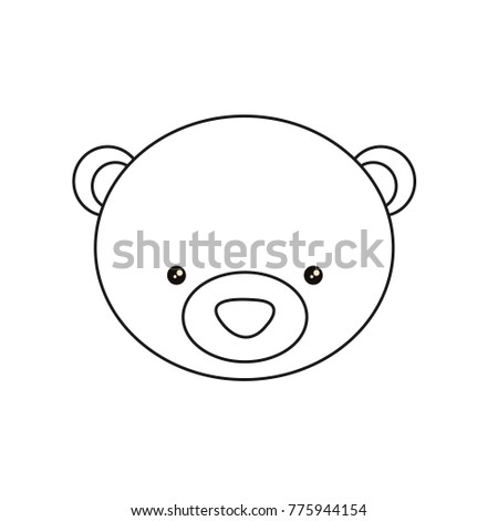 bear face drawing bear draw coloring pages for kids vector stock