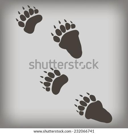 Bear footprint. Vector illustration.  - stock vector