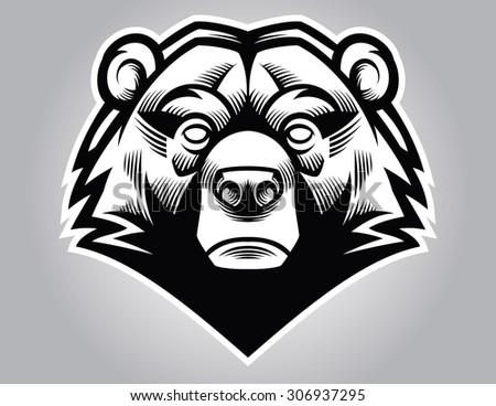 bear head - stock vector